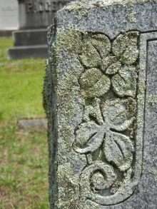 Detail of my great-grandparent's headstone in Edgefield, SC.