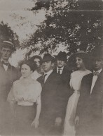 Martha is second from the right. Her brother James is on the left.