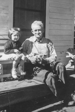 William Shillito DuPre with granddaughter, Sarah.