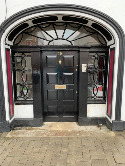 Doorway to building ca. 1790-1810