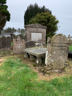 The family group of headstones